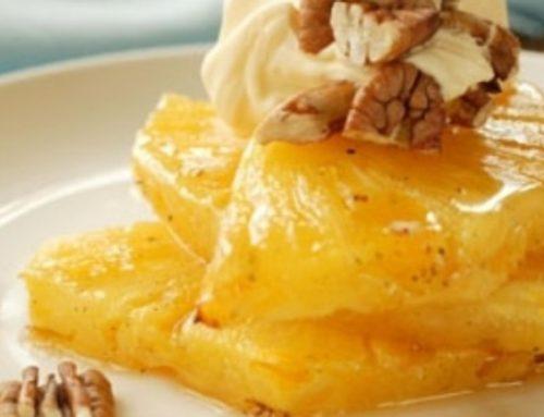 Ananas Rôti vanille et rhum